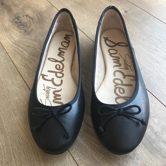 69adb01f35876d SAM EDELMAN Society Carrie Ballet Flats Black 6.5